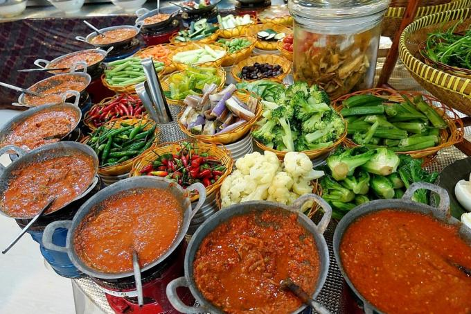 menu catering indonesian sambal varities
